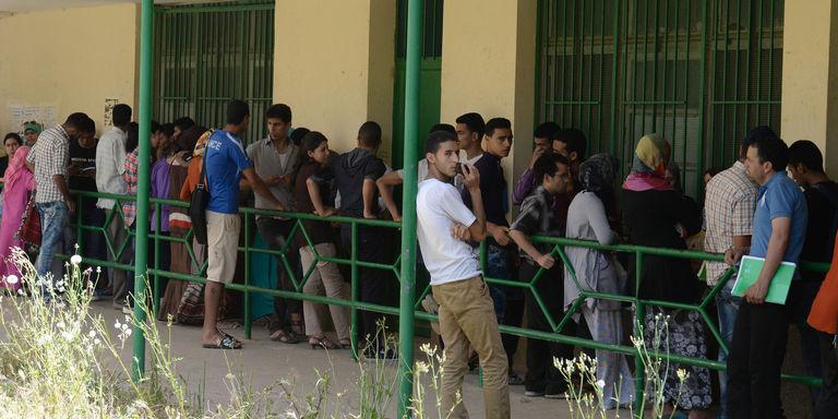 Sur le campus de l'université de Fez, en mai 2014. CRÉDITS : FADEL SENNA / AFP