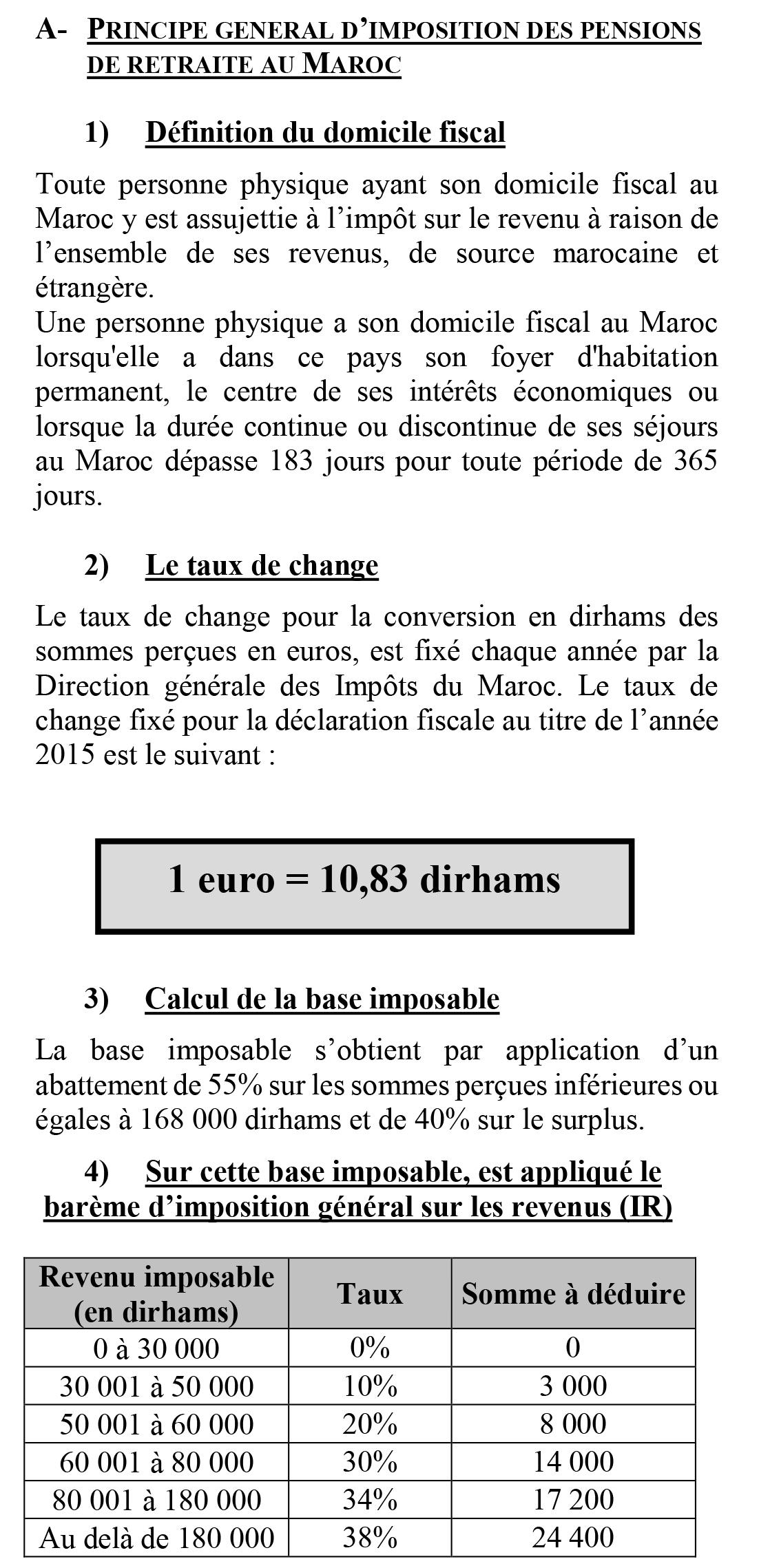 Mode De Calcul Simplifie De L Impot Sur Le Revenu Applicable Aux