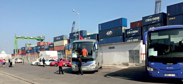 Une escale à Casablanca au milieu des containers