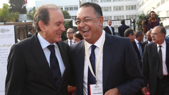 Le ministre du tourisme avec Abderrafie Zouiten, directeur de l'ONMT, semblent tout contents de leur événement.