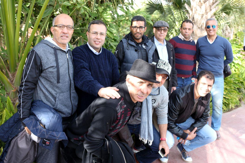 Le président de l'Alliance Marocaine des Journalistes Sportifs 2ème à partir de la gauche