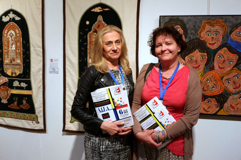 A gauche : Marta Poplawska, et Agnieszka Pietrzyk venues de Cracovie