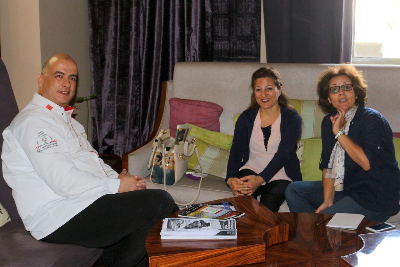Kamal Rahal Essoulami, avec Catherine Bidault et Touria Ouchehad d'Azigzao