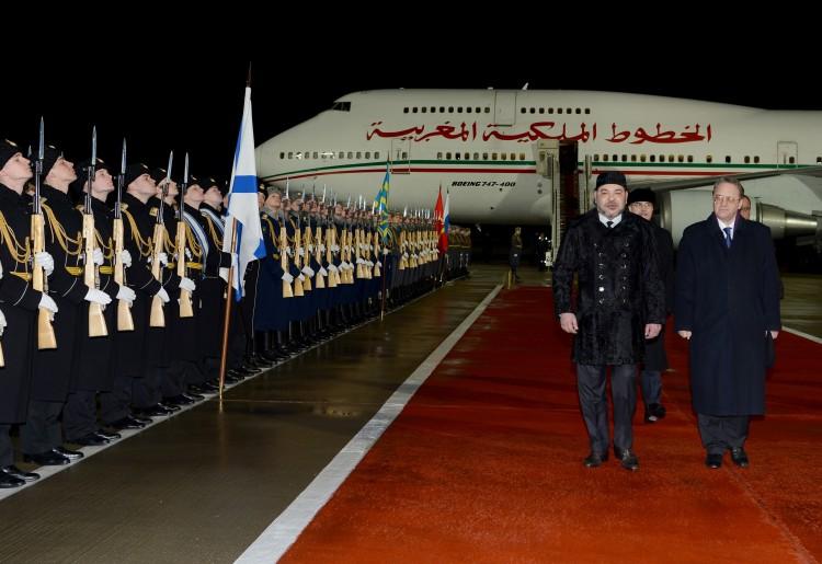 Arrivée à Moscou de Sa Majesté le Roi Mohammed VI