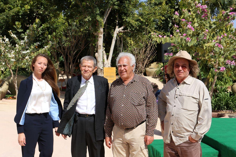 De gauche à droite : Ariane Marinetti, Philippe Alléon, Hans Silvester et Luc Fougeirol