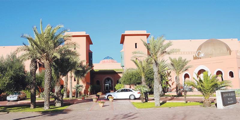 Les Jardins de l'Agdal hôtel vont recevoir les premiers clients. Le tour-opérateur qui veut croire à une relance du marché sur le Maroc table sur 10.000 clients pour 2016 (Ph. Mokhtari)