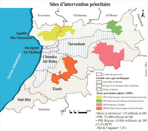 Au terme du projet EC-SM, quatre modèles PSE seront développés au niveau des zones prioritaires d'intervention couvrant le territoire de 25 communes. A savoir, Chakoukane, Arghen, Oued Massa, Assif Oussaka, Oued Tamaraght et Imouzzer Ida Outanane