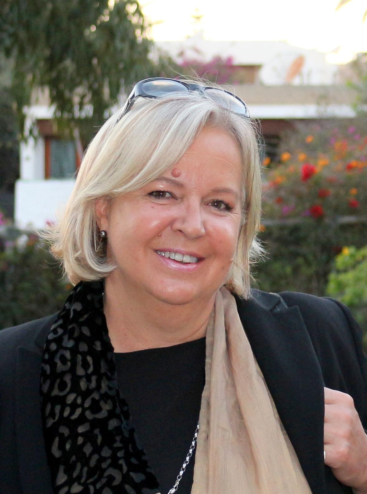 Isabelle en février dernier au cours de la réception de Monsieur l'Ambassadeur de France à Rabat