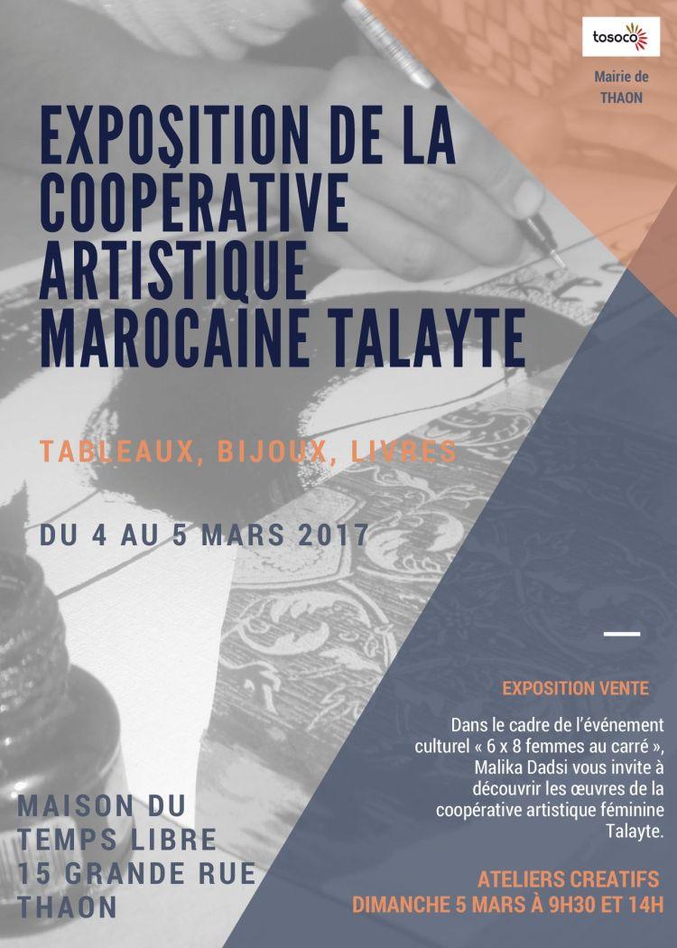 Exposition de la coopérative artistique marocaine Talayte