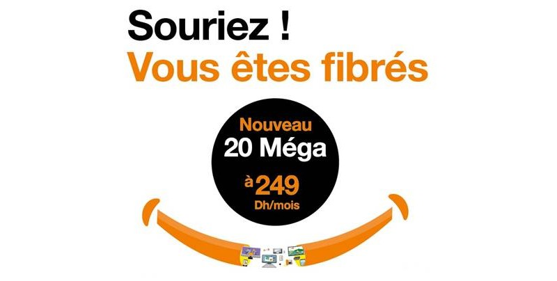 fibre orange maroc 20 mbps